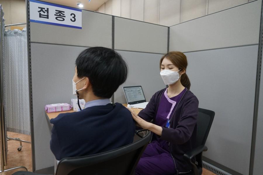 조선대병원 코로나19 호남권역 예방접종센터, 최종 사전점검2.JPG