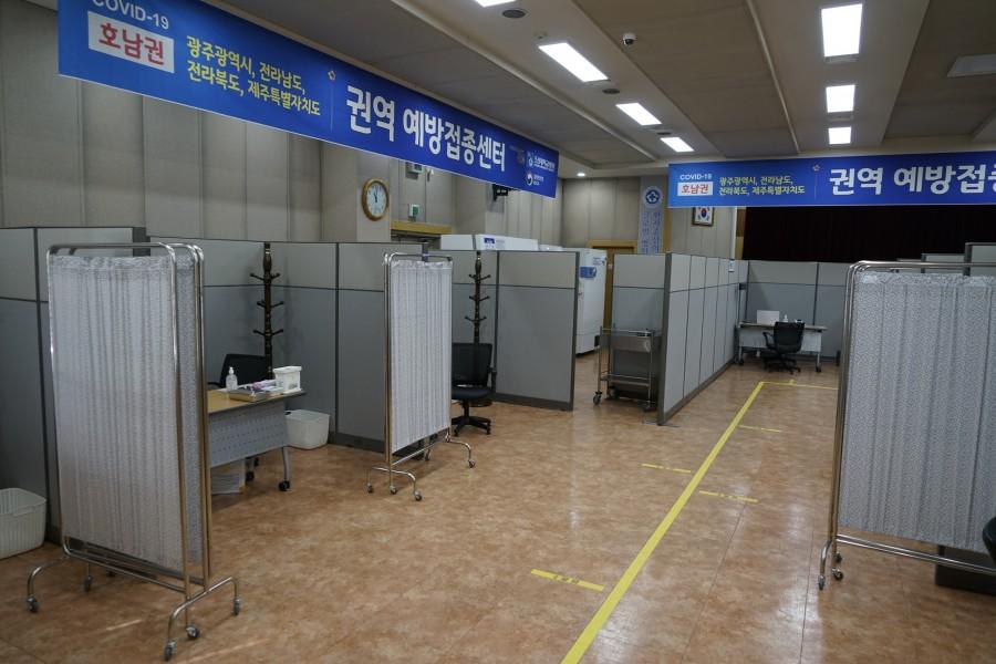 조선대병원 코로나19 호남권역 예방접종센터, 최종 사전점검1.JPG